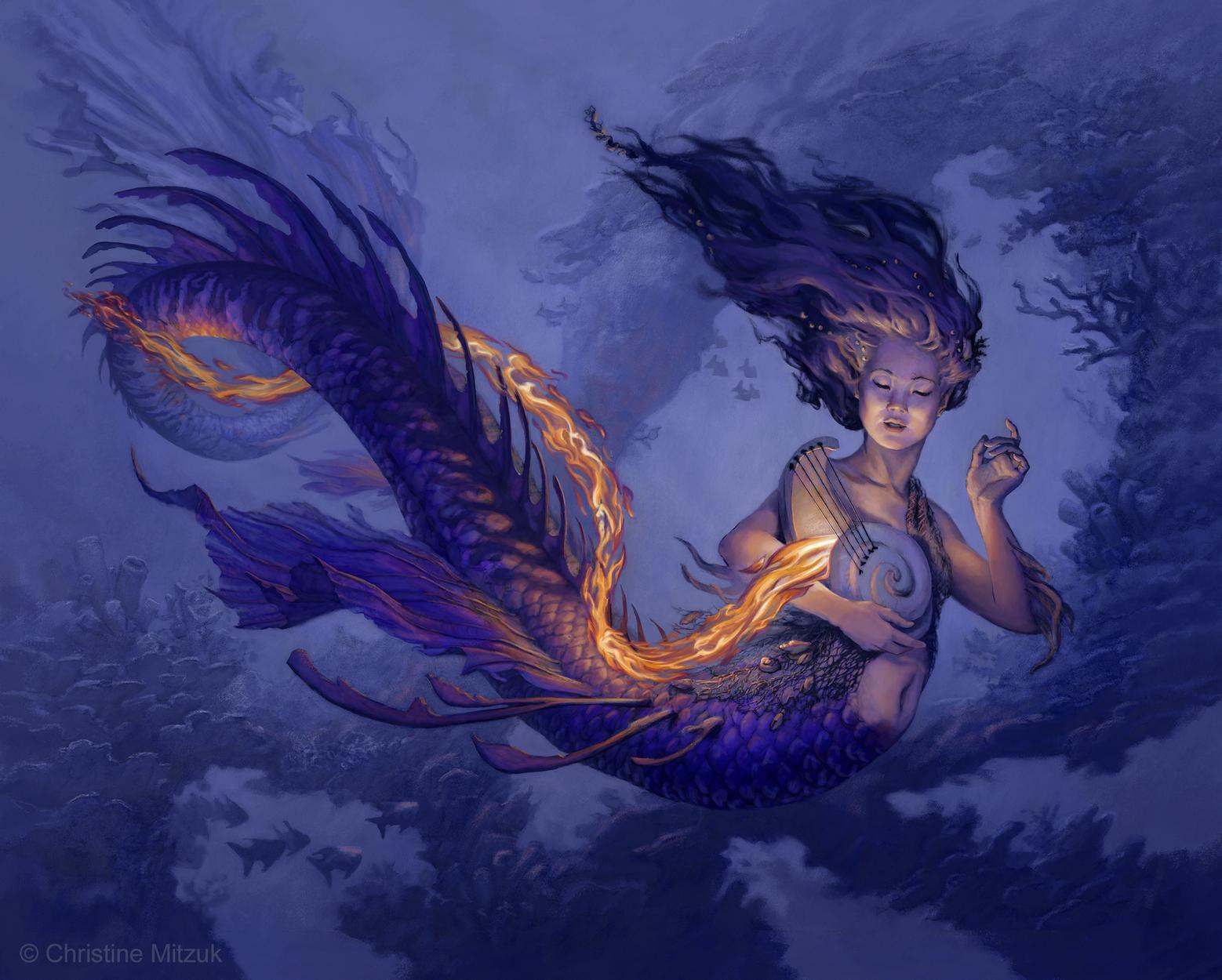 Water Elemental Artwork by Christine Mitzuk