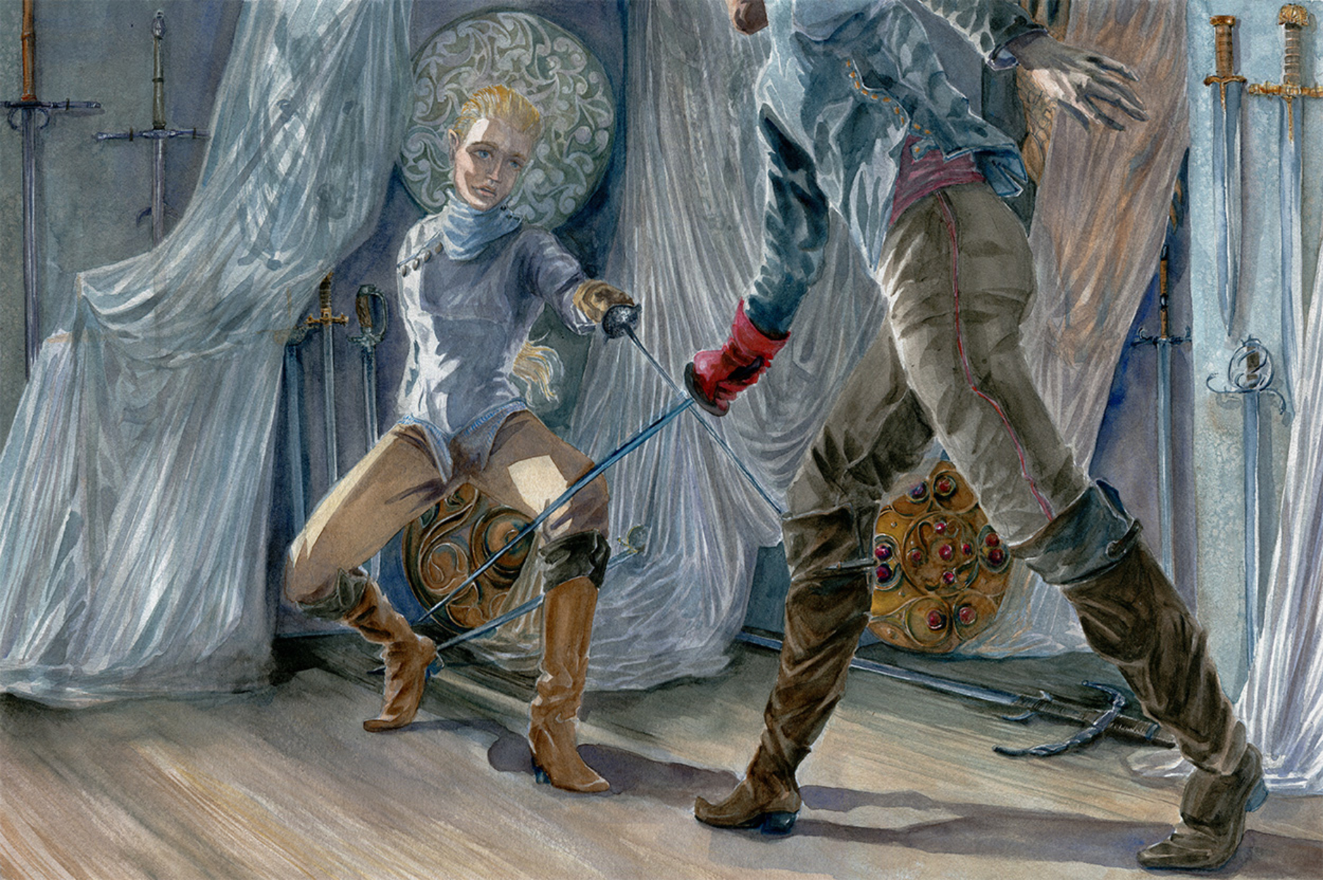 Fencers Artwork by Clare Henry McCanna