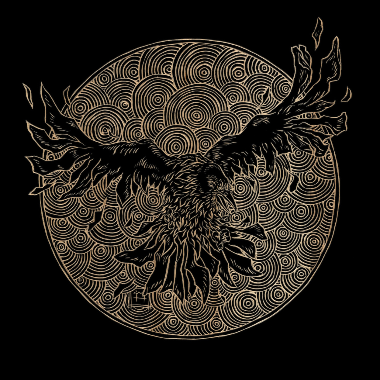 Raven Flight Artwork by M'fanwy Dean