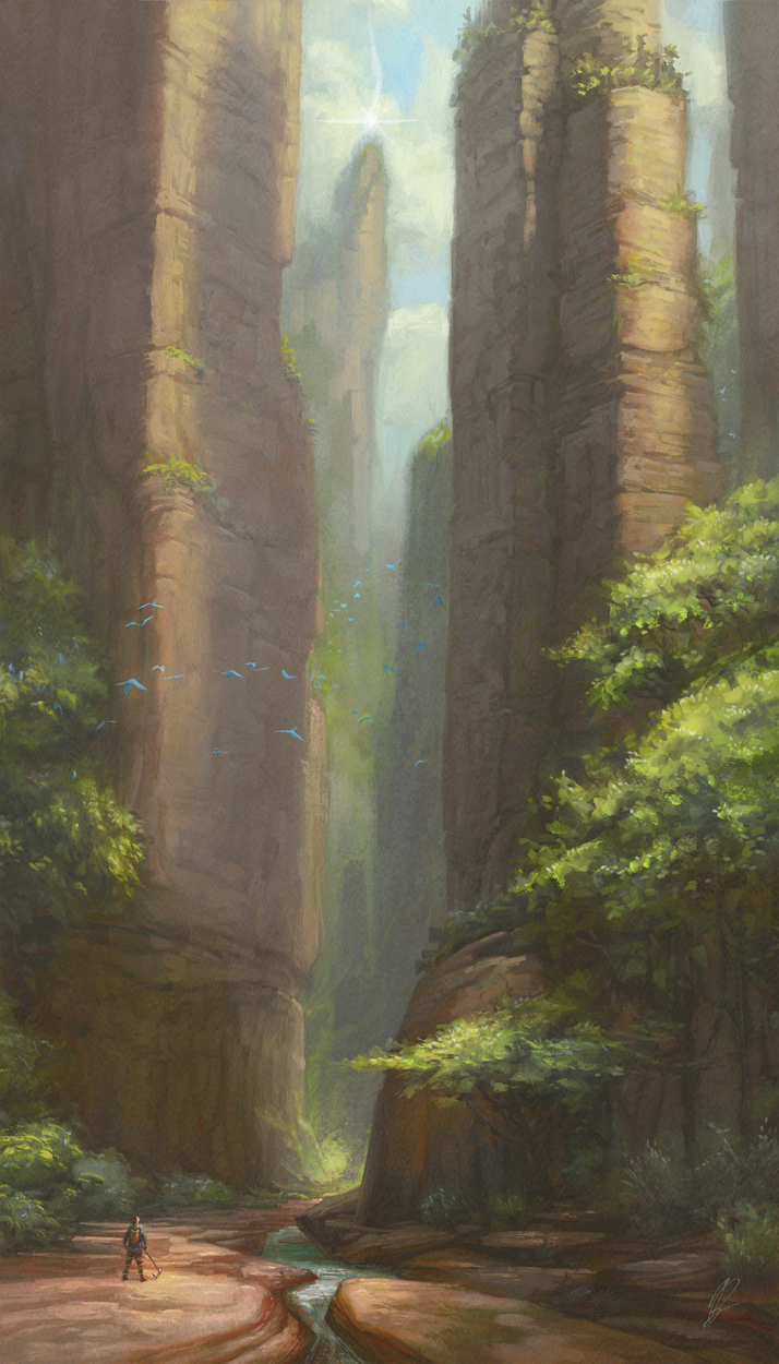Entering the Gorge Artwork by Bruce Brenneise