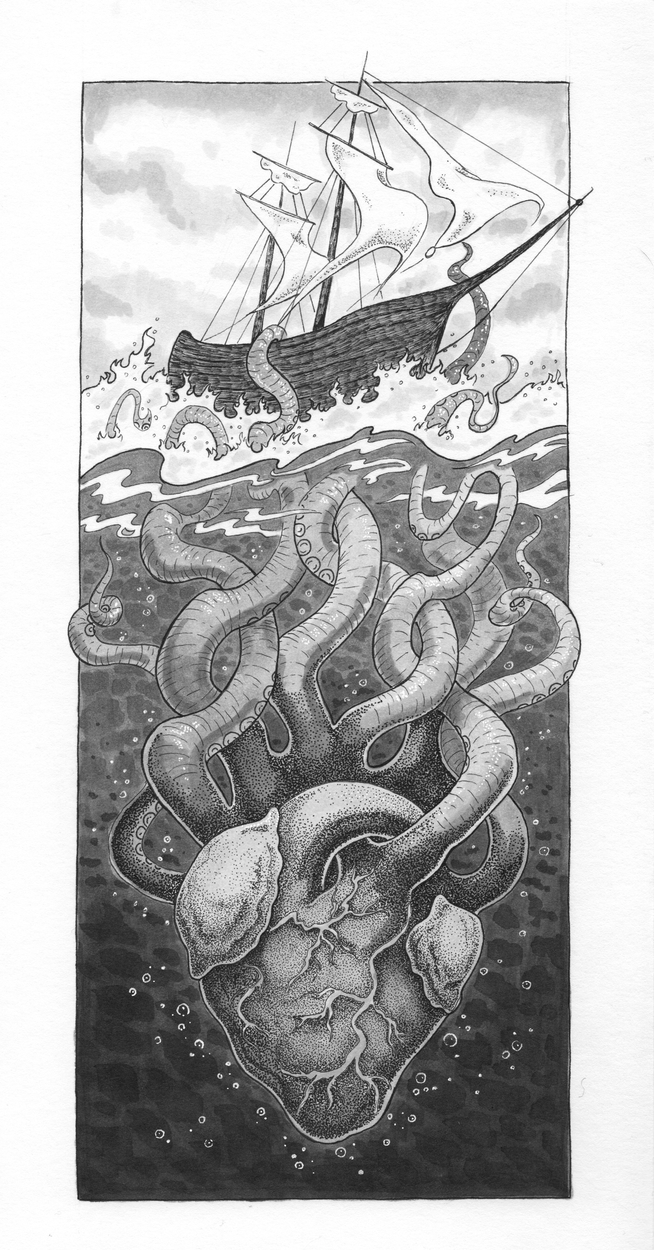 Kraken Artwork by Jerianne Fulton