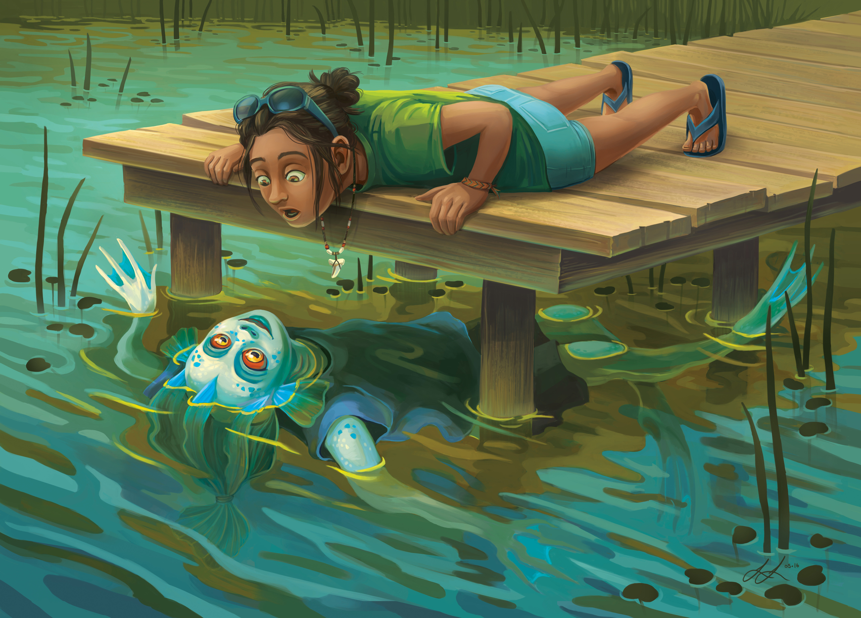 The Two Summer Camps Artwork by Lisa LaRose