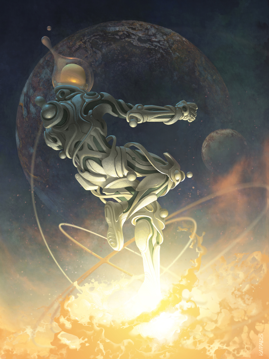 Cosmic Leap Artwork by Antonio Caparo