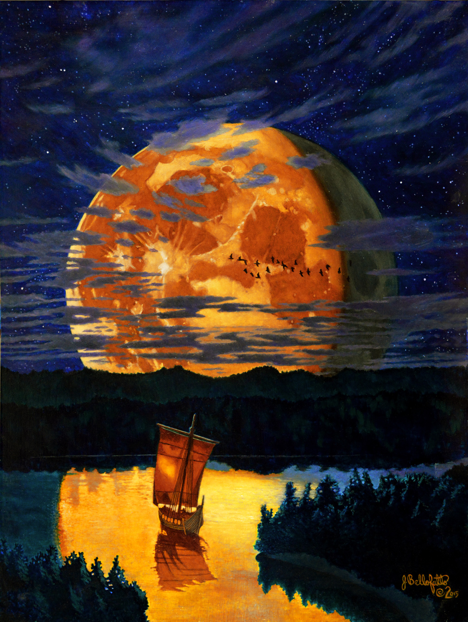 Viking Moon Artwork by Joseph Bellofatto