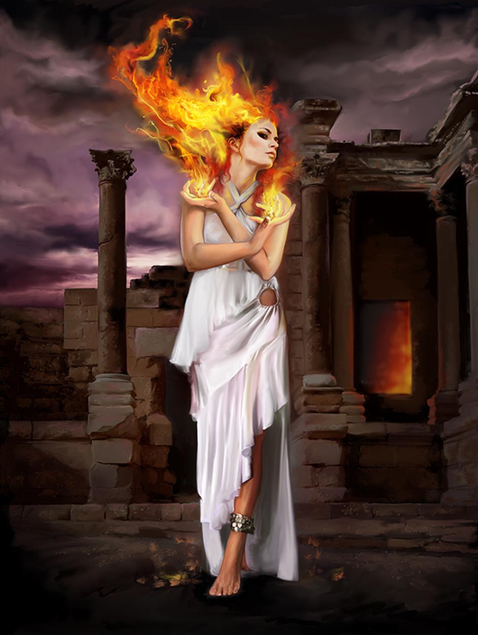 Hestia (Goddess of the Hearth) Artwork by Rich Kunz
