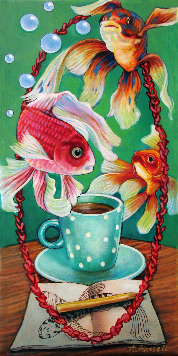 Flight of Fancy Fish Artwork by Annette Hassell