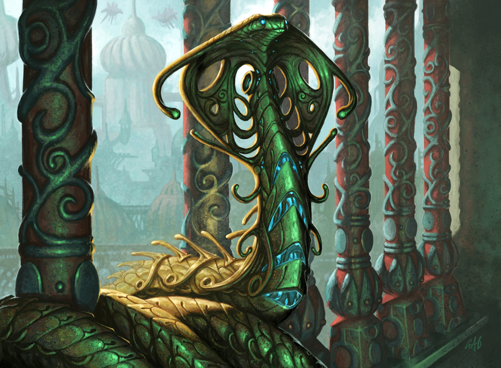 Narnam Cobra Artwork by Christopher Burdett
