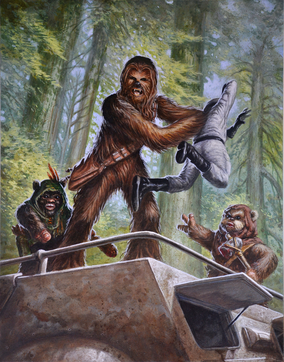 Chewbacca Artwork by Christopher Burdett