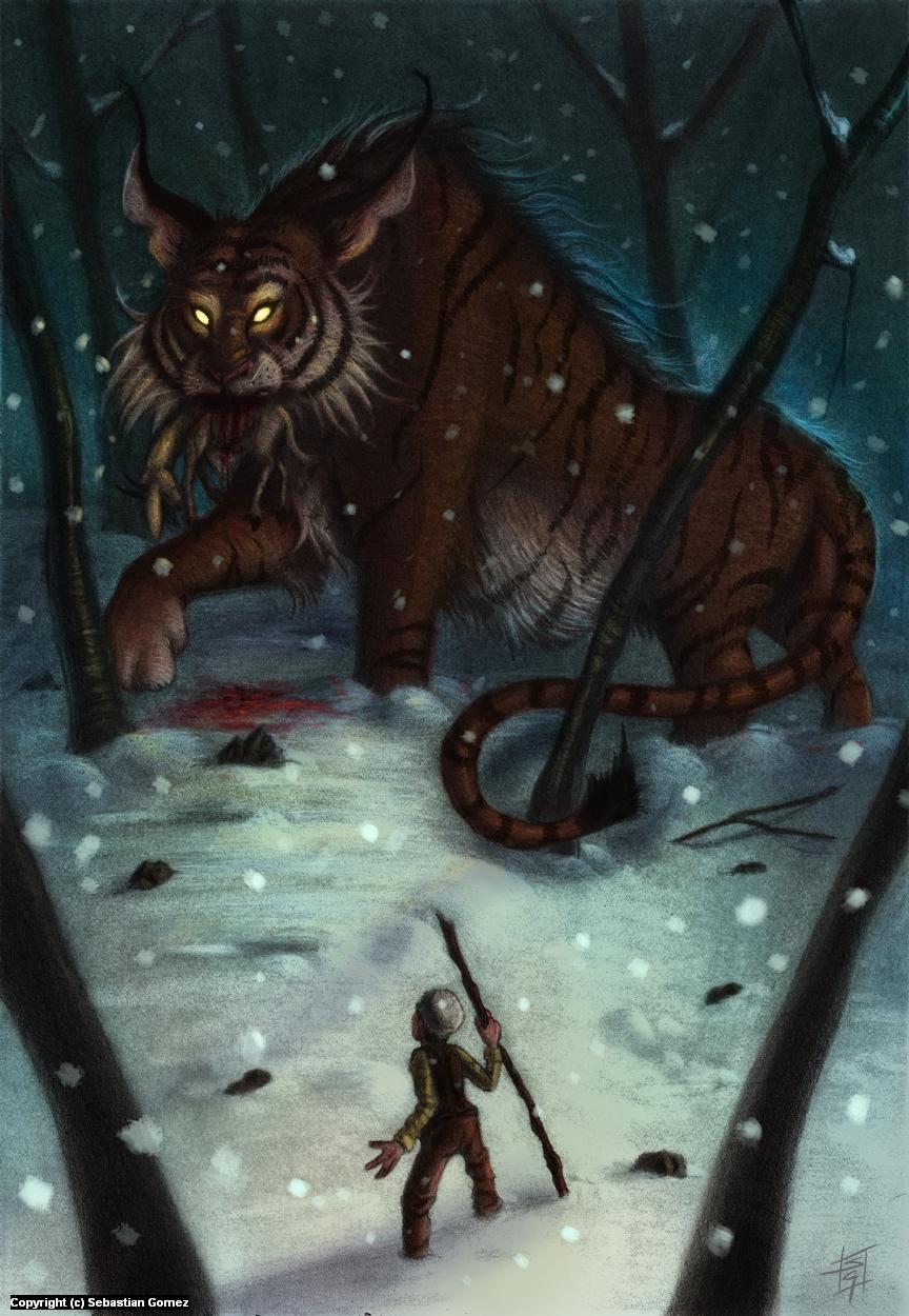 The Shepherd's Demon Artwork by Sebastian  Gomez