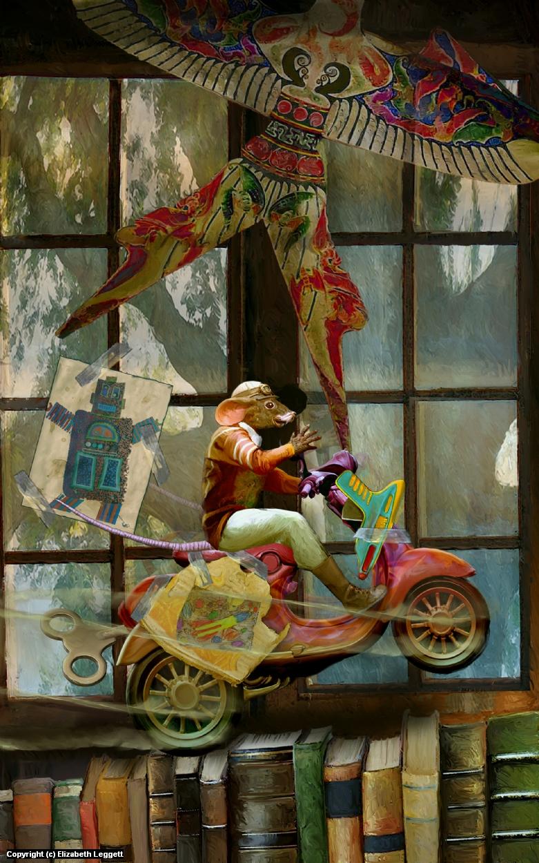 Zoom! Artwork by Elizabeth Leggett
