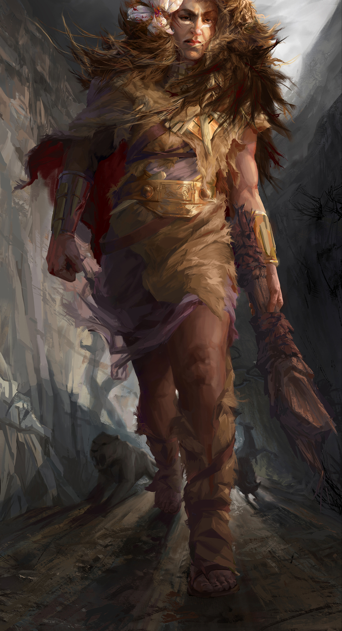 Goddess Hercules Artwork by Cassandre Bolan