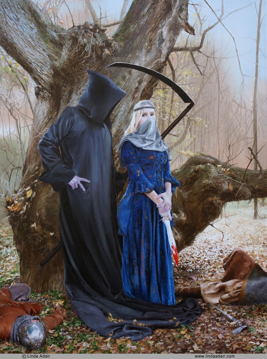 Courting Death Artwork by Linda Adair