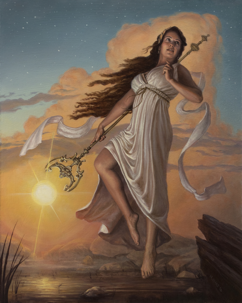 Hope (Eos, Bringer of Light) Artwork by Nicholas Elias