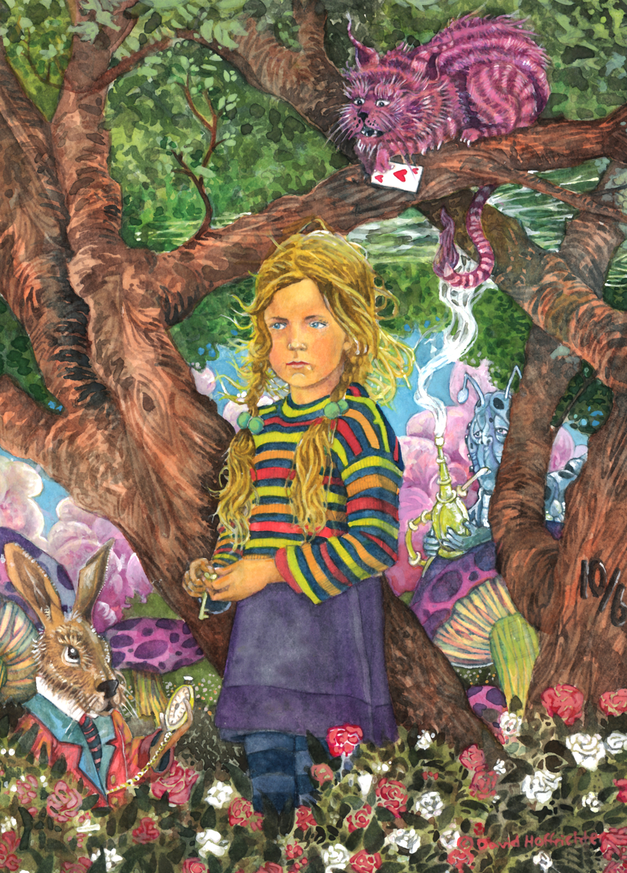 Alice In Wonderland Artwork by David Hoffrichter
