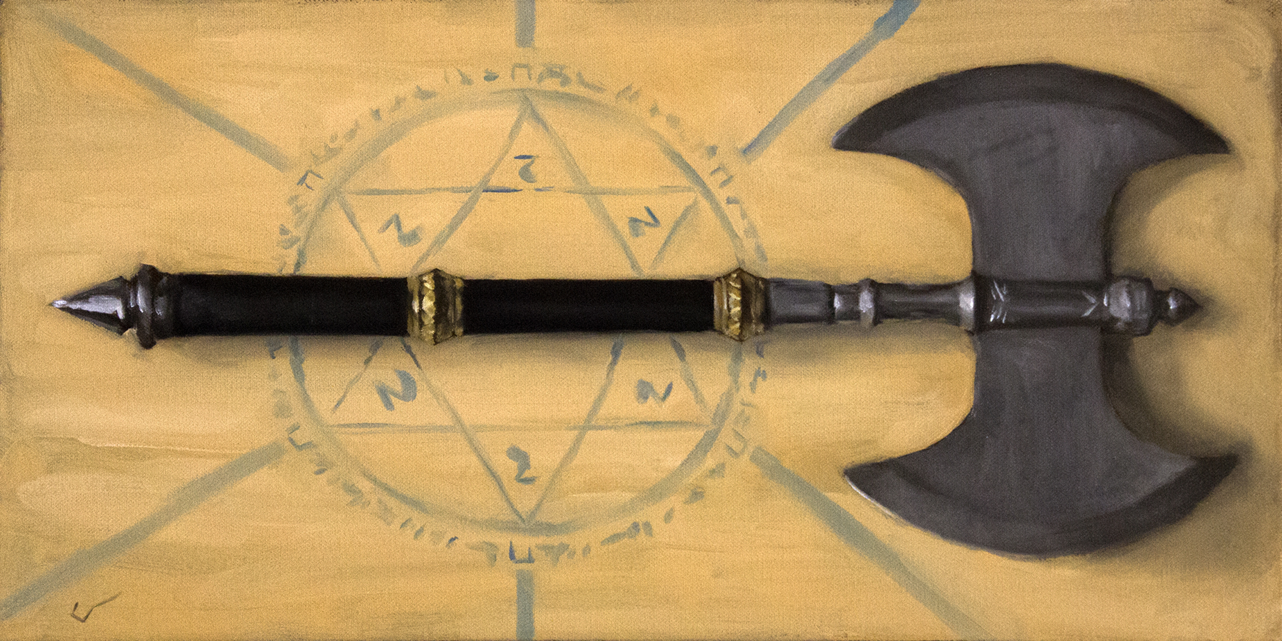 Rune Forged Axe Artwork by Bruno Galuzzi Corsini
