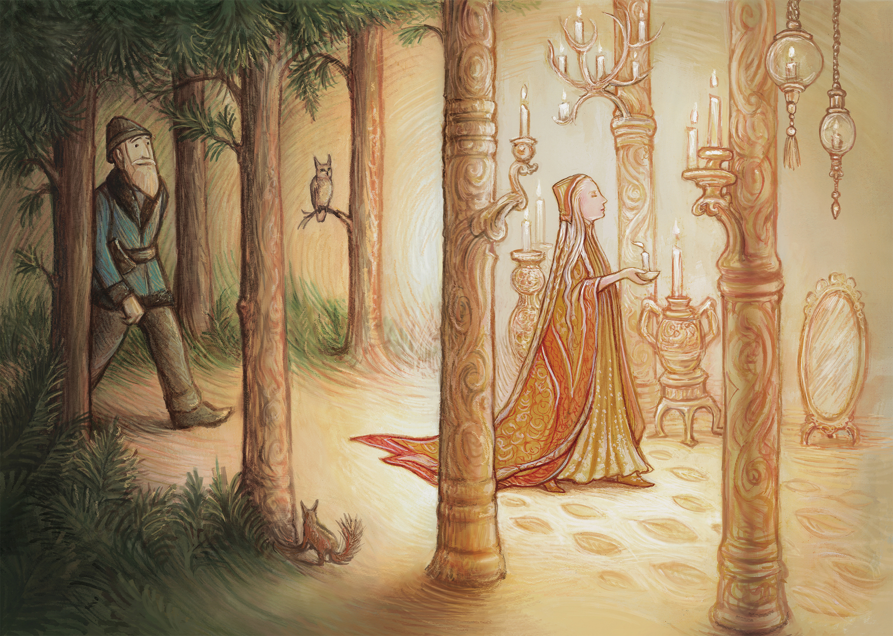 The Woodcutter and the Huldra Artwork by I. S. Kallick