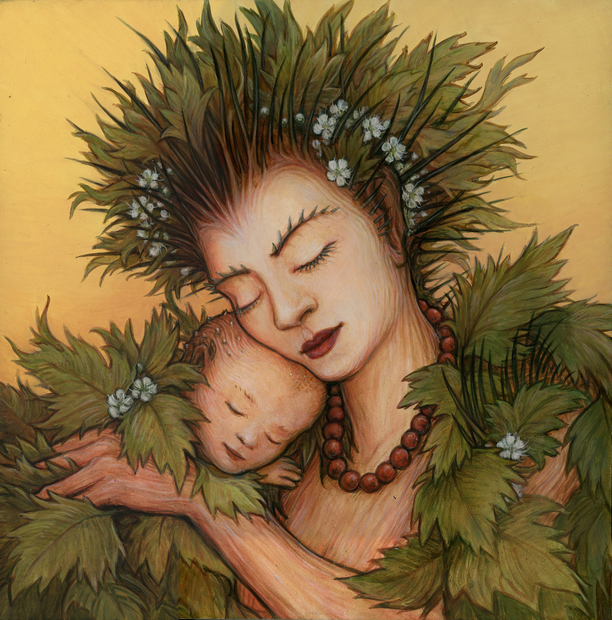 Hawthorn Mother Artwork by I. S. Kallick