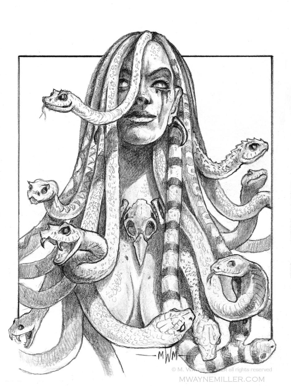 Medusa Artwork by Wayne Miller