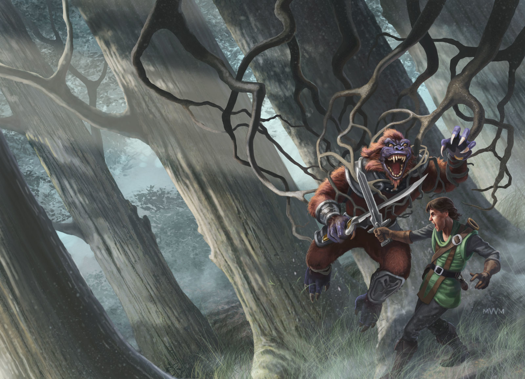 Chosen of Trees and Talons Artwork by Wayne Miller