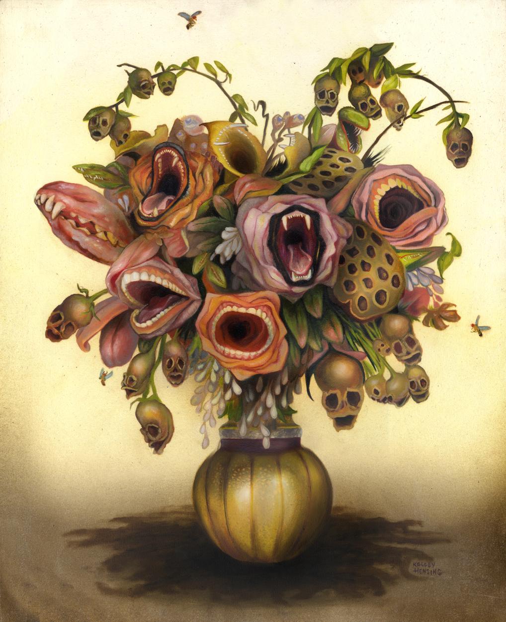 Regret-Me-Nots Artwork by Kelley Hensing