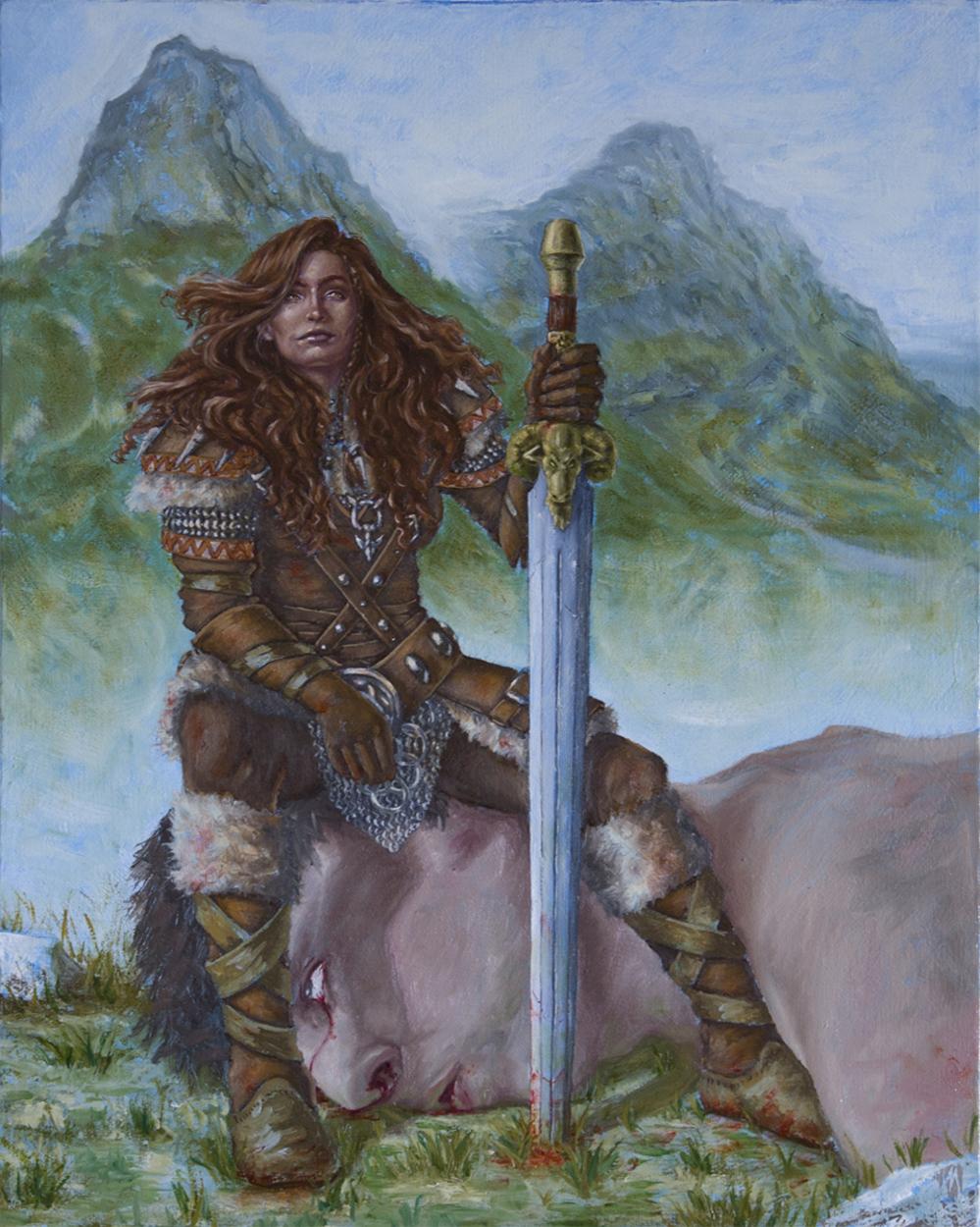 Brynhilde Brickchin, Giant Slayer Artwork by Matthew McNeil