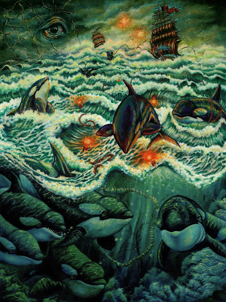 Tilikum's Nightmare Artwork by Jessica Ross