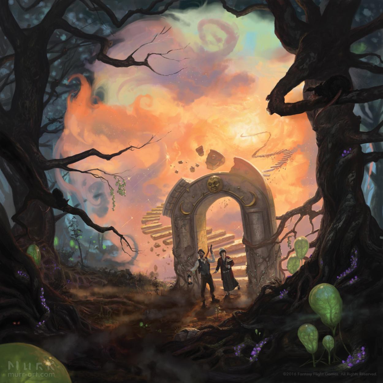 Eldritch Horror: The Dreamlands Artwork by Jake Murray
