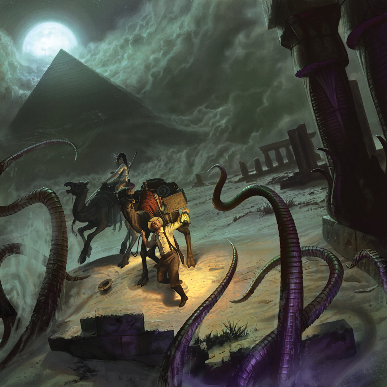 Eldritch Horror: Under the Pyramids Artwork by Jake Murray