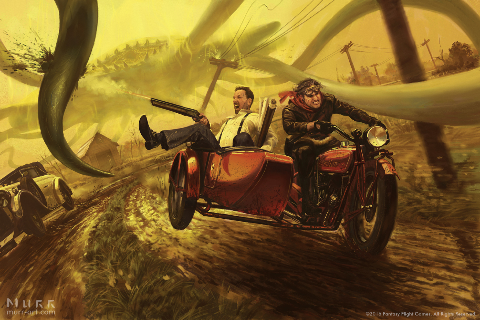 Narrow Escape Artwork by Jake Murray