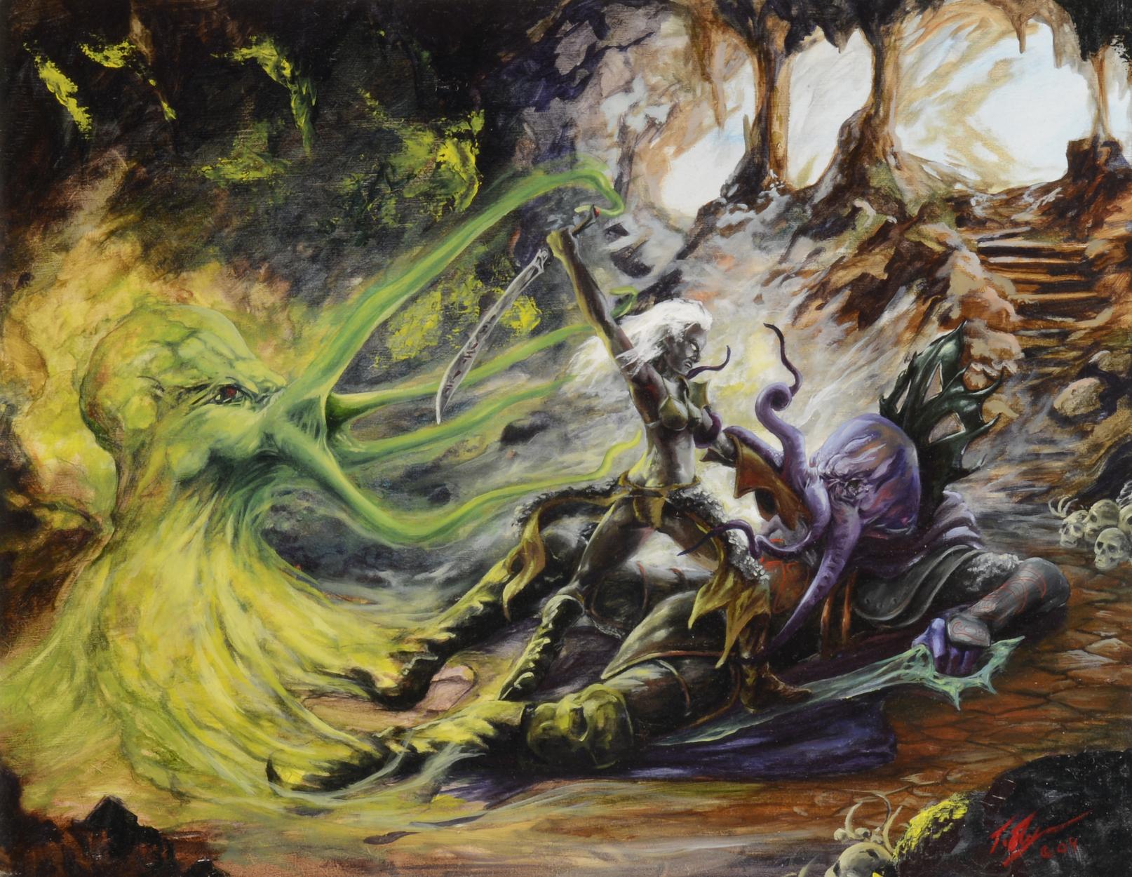 DROW VS FLAYER Artwork by Tracy E Flynn