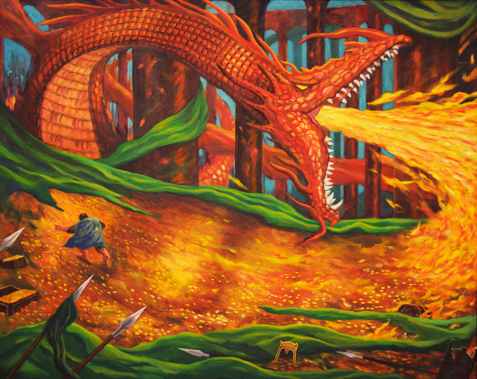 Smaug Artwork by Brian McElligott