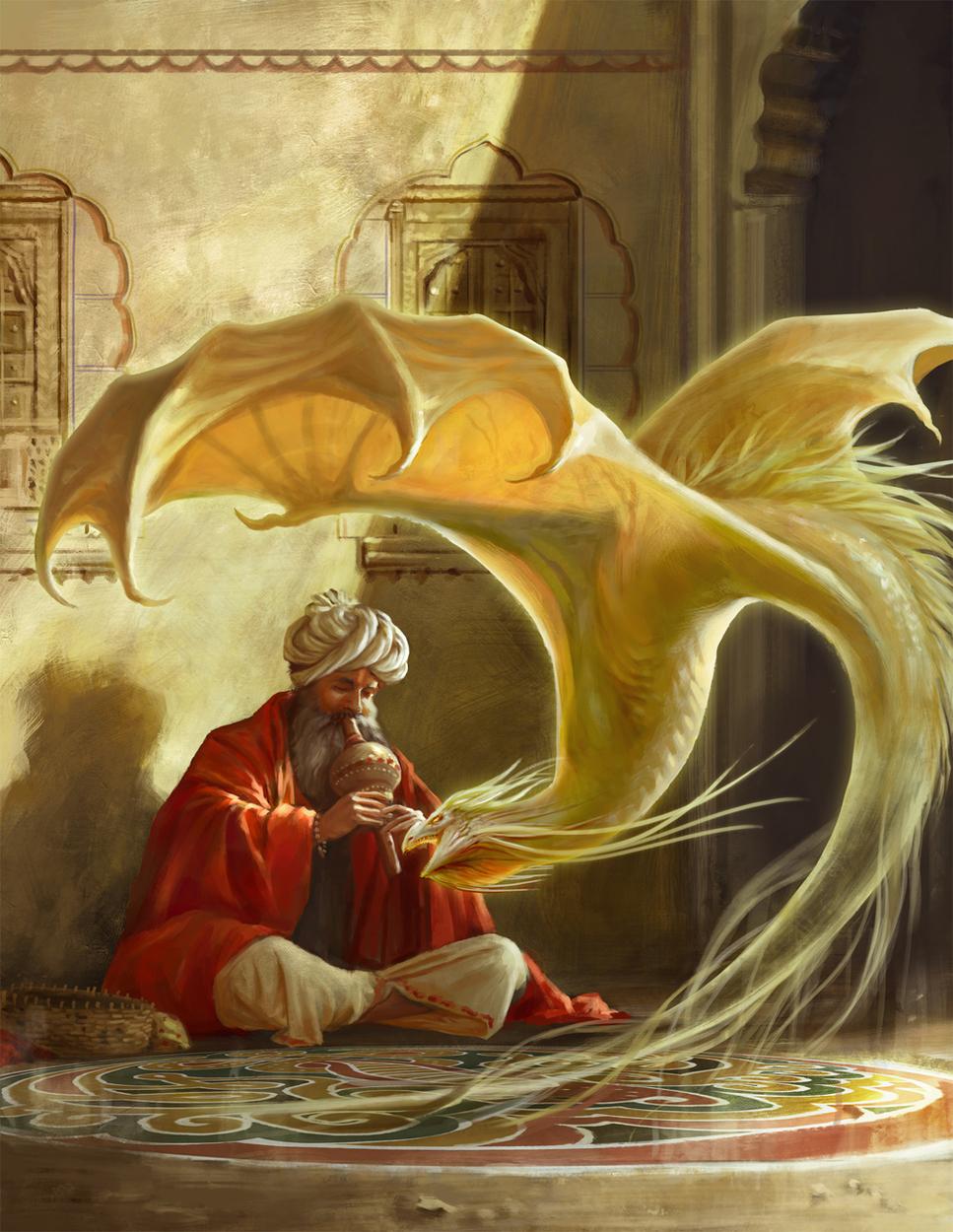 The Dragon Charmer Artwork by Shreya Shetty