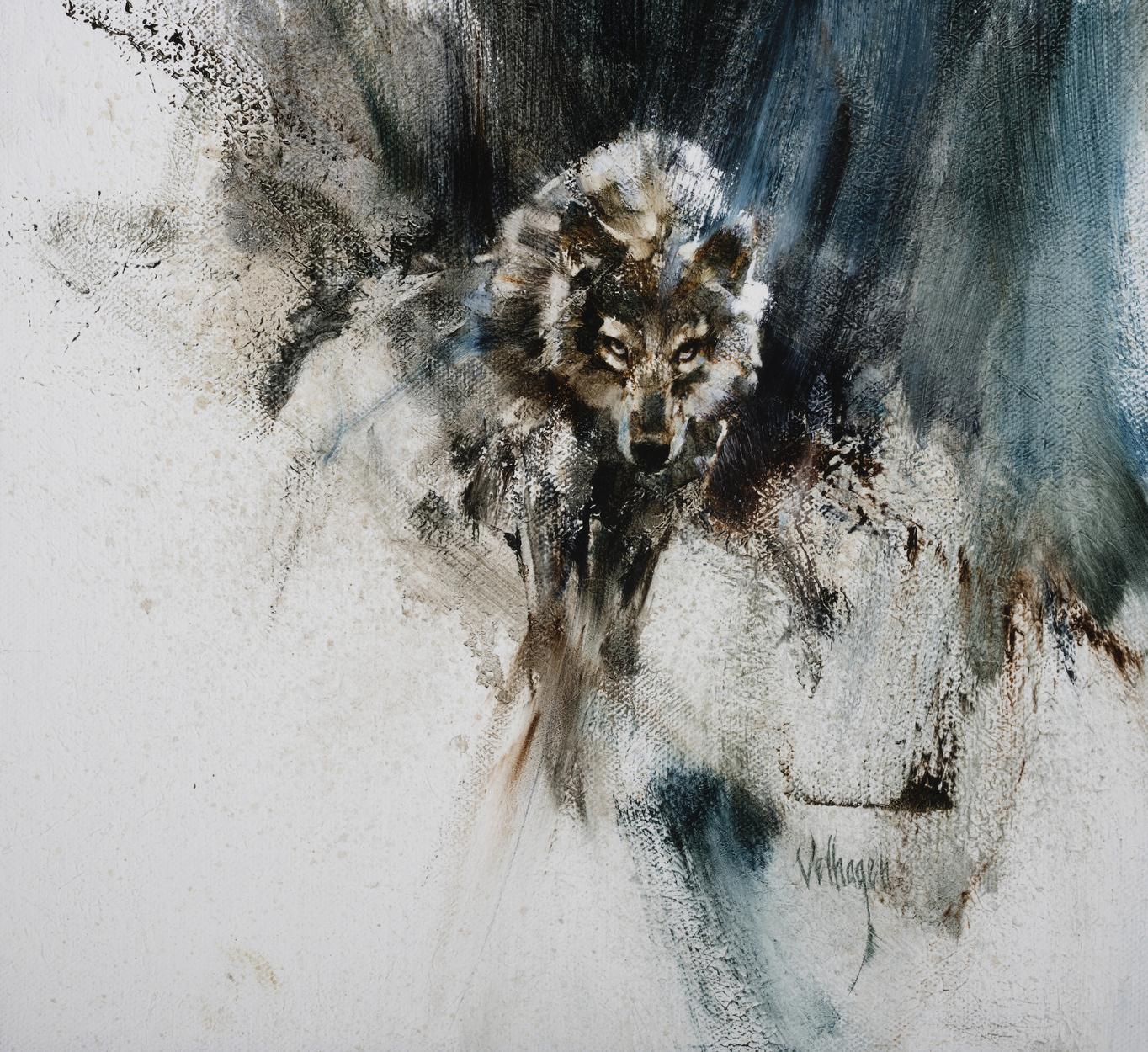 Wolf Study Artwork by Eric Velhagen