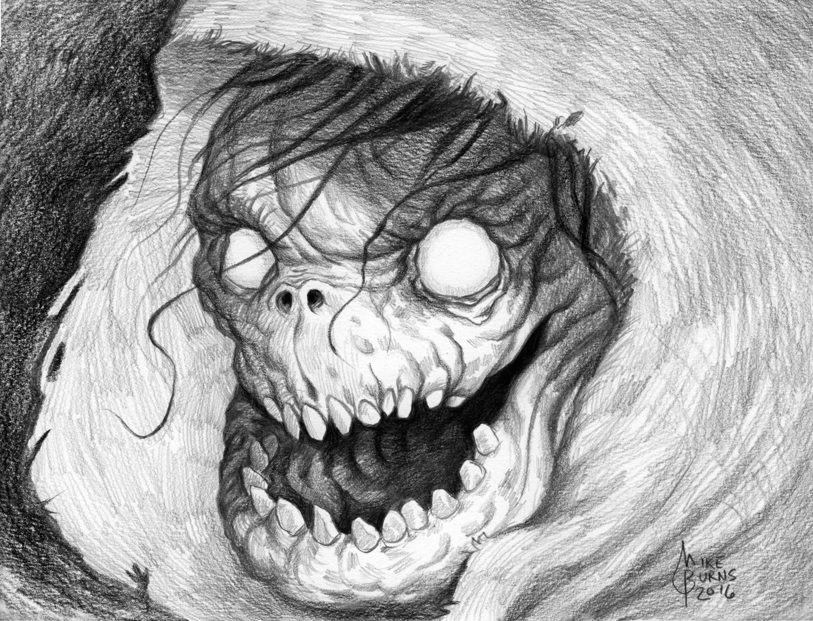 Hooded Hellbringer Artwork by Mike Burns