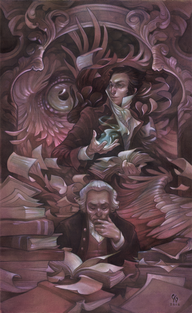 Two Magicians Artwork by Wylie Beckert