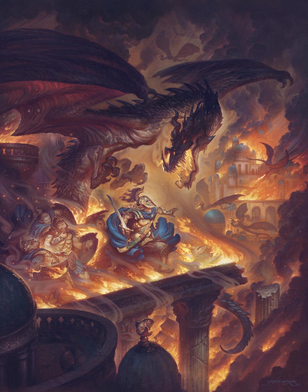 Fall of Gondolin Artwork by Justin Gerard