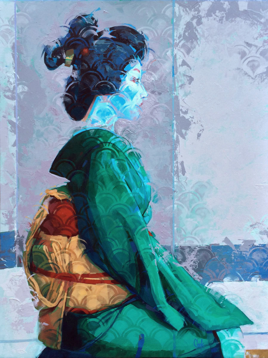 Geisha Artwork by Bud Cook