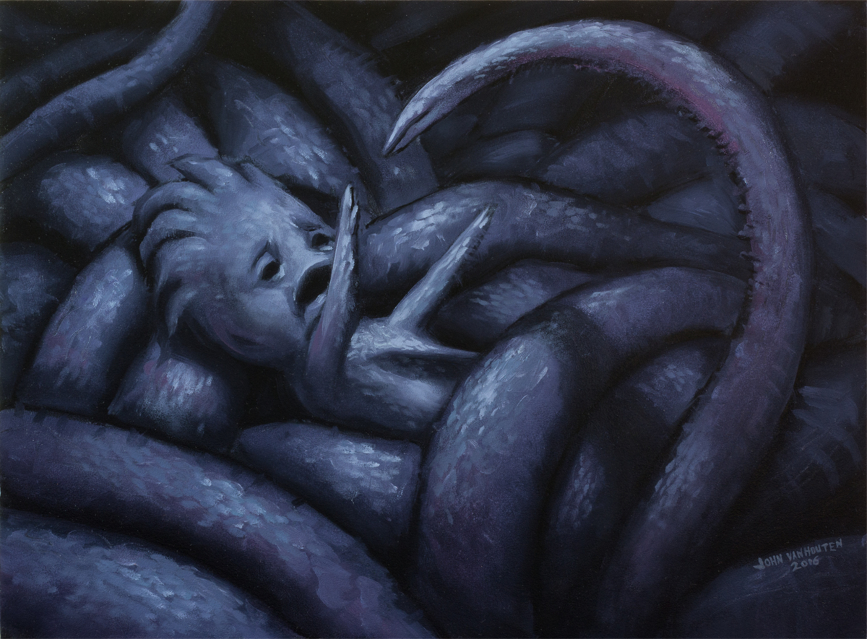 Aphotic Nativity Artwork by John VanHouten
