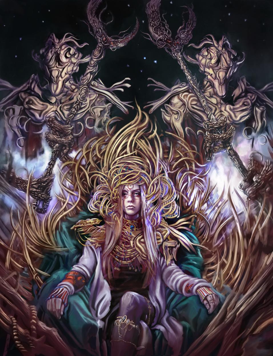 Alien Throne Artwork by Ken McCuen