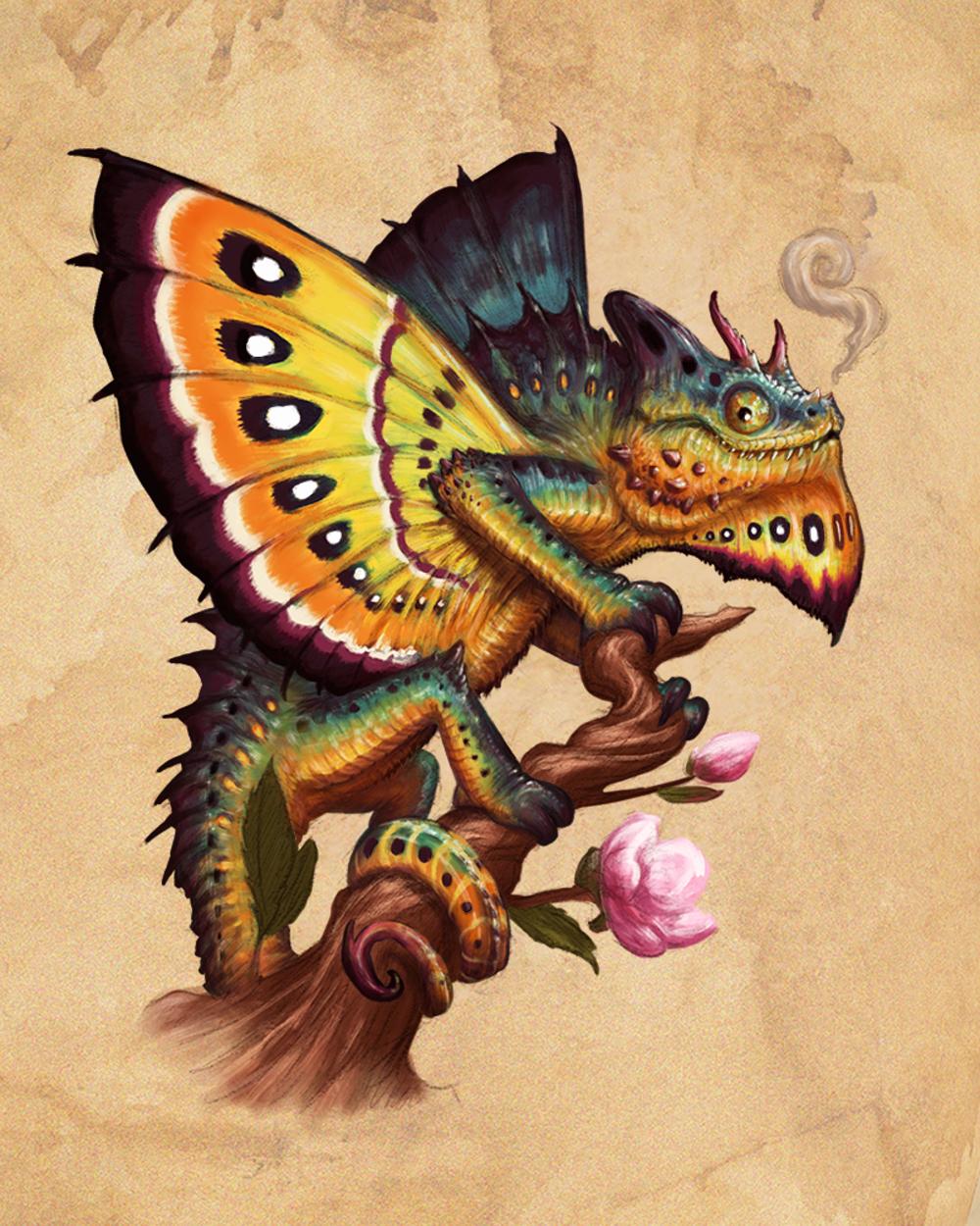 Horned Drakemeleon Artwork by Crystal Sully