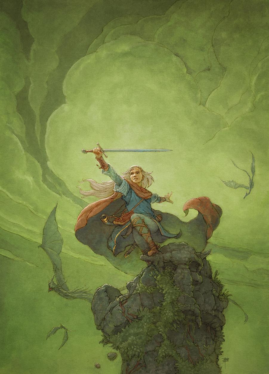 Drakar och Demoner (Homage to Michael Whelan) Artwork by David Brasgalla