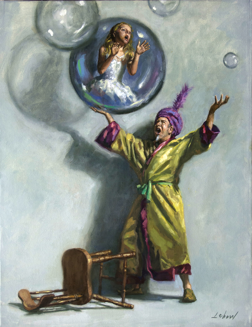 Evil Genie Artwork by Dave Lebow