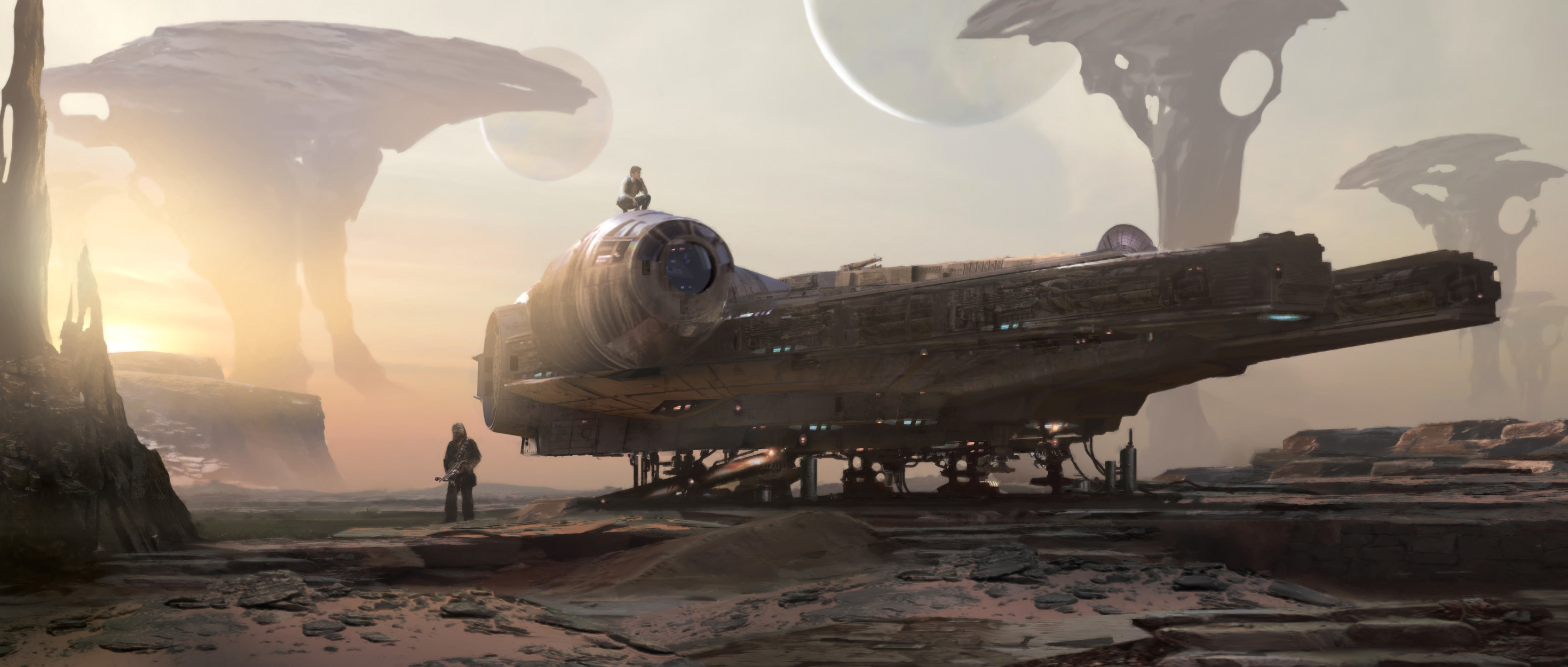 smuggler's rendez vous Artwork by stephan martiniere
