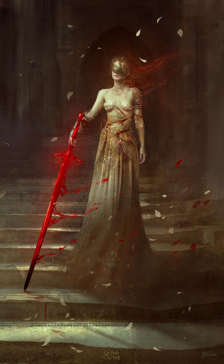 Blood Blade Artwork by Bastien Lecouffe Deharme