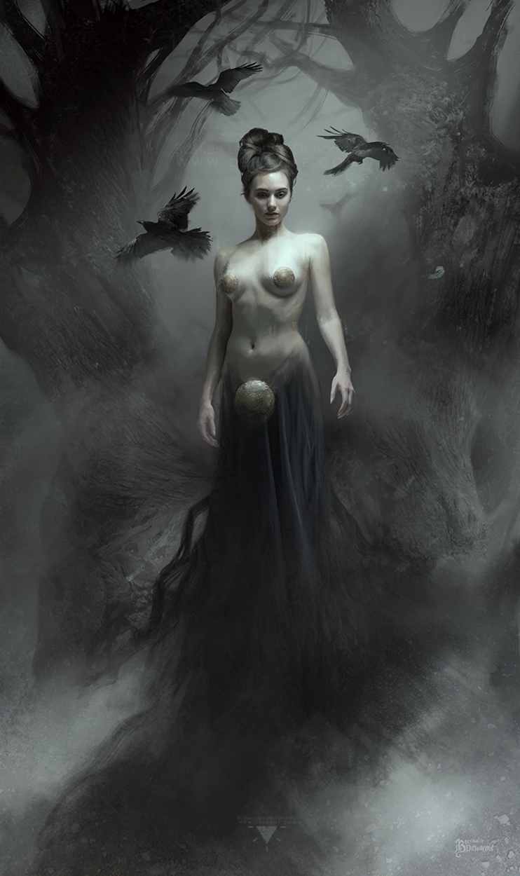 The Mist and the Ravens Artwork by Bastien Lecouffe Deharme