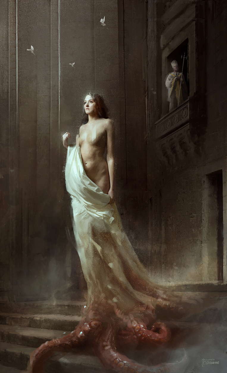 The Priest's Daughter Artwork by Bastien Lecouffe Deharme