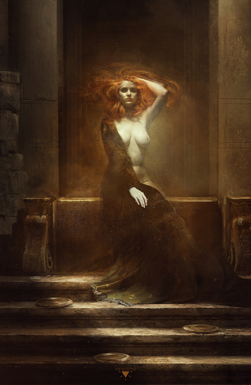 Plates of Gold Artwork by Bastien Lecouffe Deharme