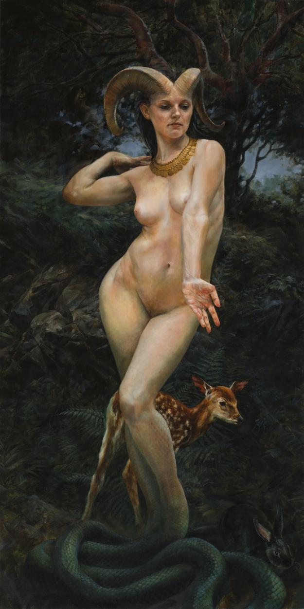 Woodland Goddess Artwork by Colin  Poole