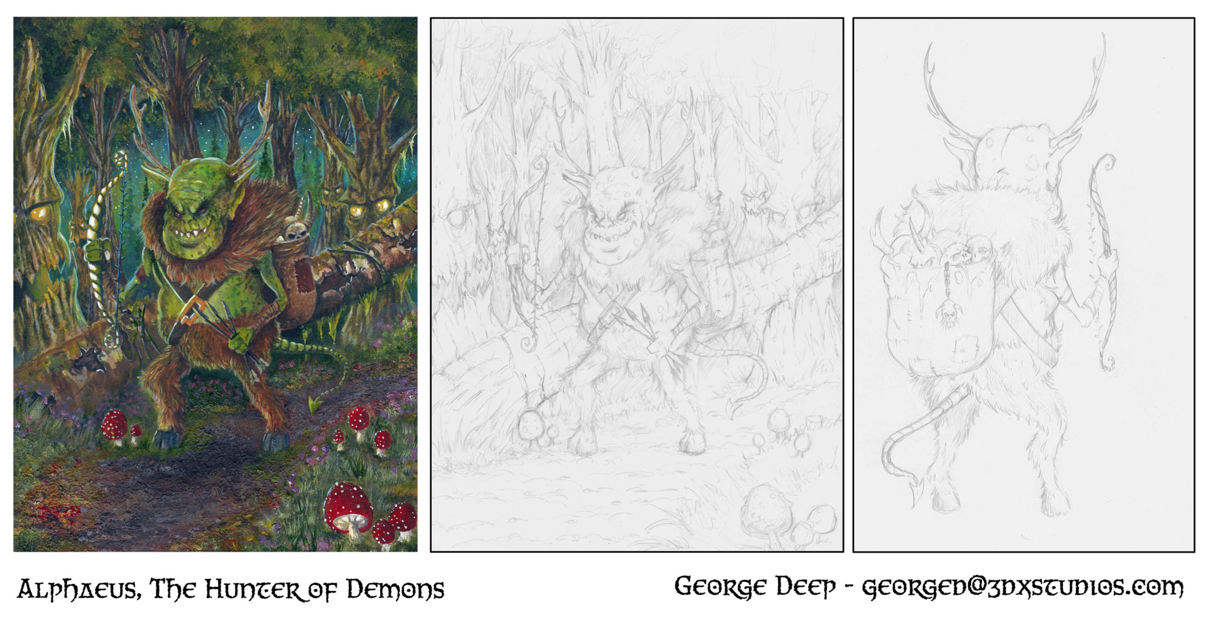 Alphaeus, The Hunter of Demons Artwork by George Deep