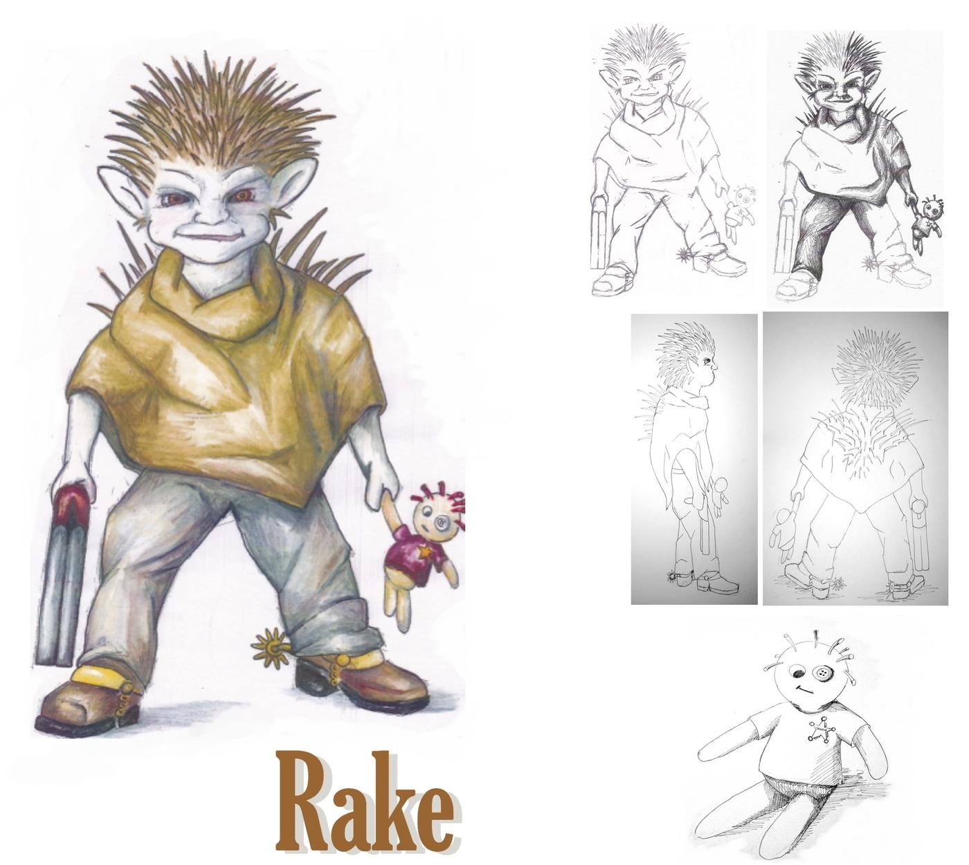 Rake Artwork by Catherine Newelll
